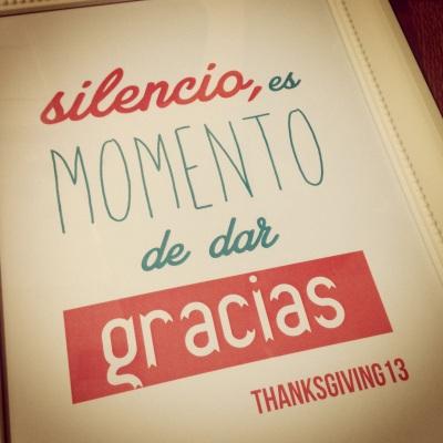 silencio es momento de dar gracias